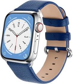 Fullmosa Lederarmband für Apple Watch 42mm/44mm dunkelblau