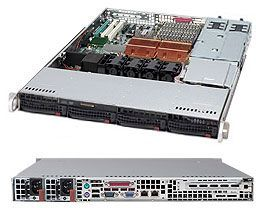 Supermicro 815TQ-R500CB black, 1U, 500W redundant