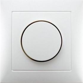 Berker Abdeckplatte für Drehdimmer/Drehpotenziometer, polarweiß glänzend (11308989)