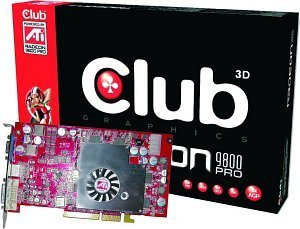 Club 3D Radeon 9800 Pro, 256MB DDR2, DVI, TV-out, AGP (CGA-P986TVD)