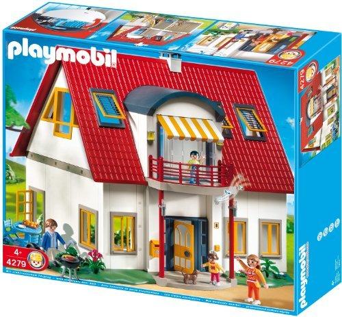 Playmobil city life suburban house 4279 skinflint for Modernes haus playmobil