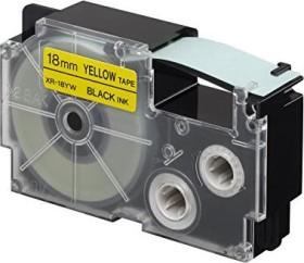 Casio XR-18YW1 Beschriftungsband 18mm, schwarz/gelb