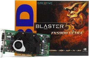 Creative 3D Blaster5 FX5900 Ultra, GeForceFX 5900 Ultra, 256MB DDR, DVI, TV-out, AGP (70GB000002017)