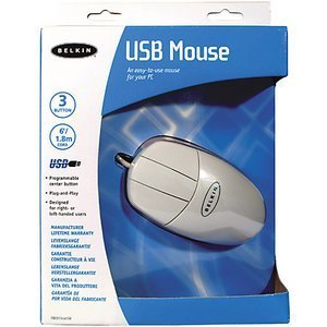 Belkin Mouse white, USB (F8E813EAUSB)
