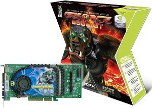 XFX GeForce 6800 GT, 256MB DDR3, 2x DVI, TV-out, AGP (PVT40AUD)