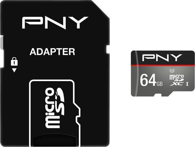 PNY Turbo Performance R100/W60 microSDXC 64GB Kit, UHS-I U3, Class 10 (SDU64GTUR-1-EF)