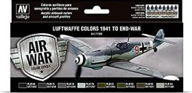 """Vallejo Model Air Air War Color Series """"Luftwaffe Colors 1941 to End-War"""" Farbset, 8-tlg. (71.166)"""