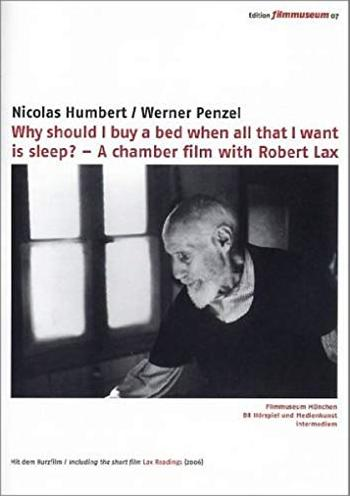 Robert Lax - Why should I buy a bed when all that I want is sleep? -- via Amazon Partnerprogramm