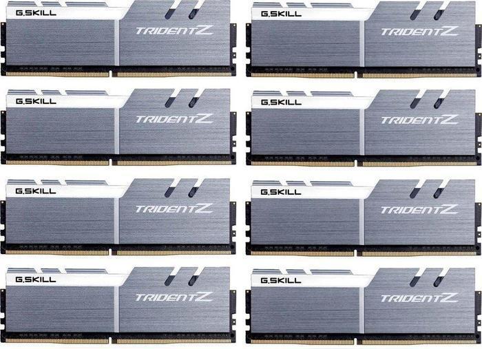 G.Skill Trident Z silber/weiß DIMM Kit 64GB, DDR4-4000, CL18-19-19-39 (F4-4000C18Q2-64GTZSW)
