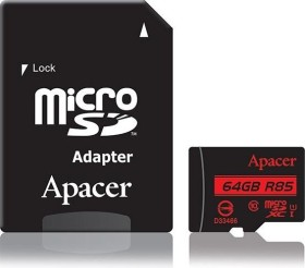 Apacer R85 microSDXC 64GB Kit, UHS-I U1, Class 10 (AP64GMCSX10U5-R)
