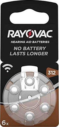 Varta Acoustic HA312 Hörgerätezelle, Zink-Luft, 1.4V, 160mAh (04607) -- via Amazon Partnerprogramm