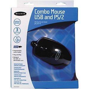 Belkin Combo Mouse black, PS/2 & USB (F8E812EABLK)