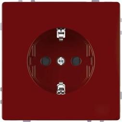 Merten System Design SCHUKO-Steckdose, rubinrot (MEG2300-6006)