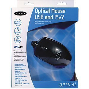 Belkin Optical Mouse schwarz, PS/2 & USB (F8E814EABLK-OPT)
