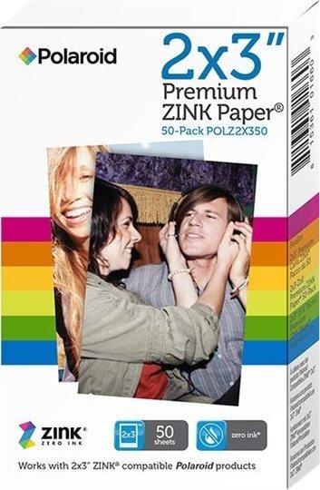 "Polaroid Premium ZINK Papier 2x3"", 50 Blatt"