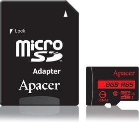 Apacer R85 microSDHC 8GB Kit, UHS-I U1, Class 10 (AP8GMCSH10U5-R)