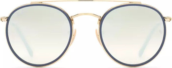 cda5e742b0c Ray-Ban Round Double Bridge gold silver gradient flash (RB3647N-001 ...