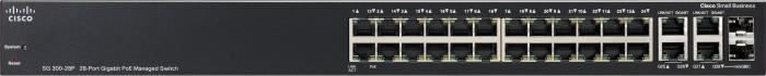 Cisco SG300 Rackmount Gigabit Managed Switch, 26x RJ-45, 2x RJ-45/SFP, PoE (SG300-28P/SRW2024P-K9)