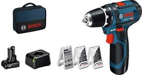 Bosch Professional GSR 12V-15 Akku-Bohrschrauber inkl. Tasche + 2 Akkus 2.0/4.0Ah + Zubehör (0615990G6L)