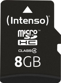 Intenso R21/W5 microSDHC 8GB Kit, Class 4 (3403460)