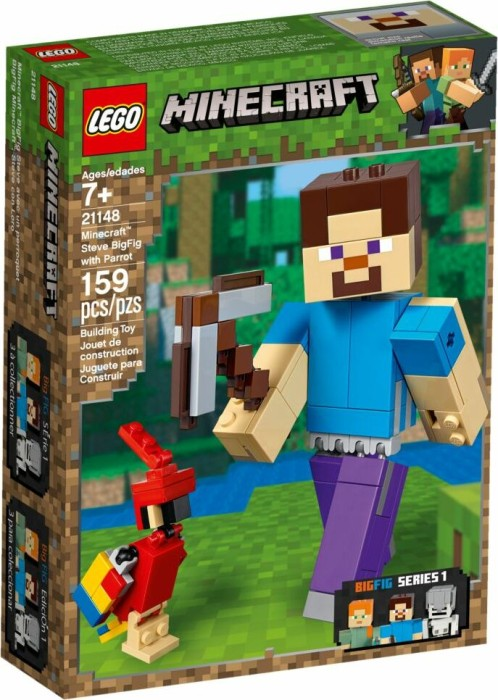 LEGO Minecraft - Steve BigFig with Parrot (21148)