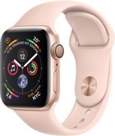 Apple Watch Series 4 (GPS) Aluminium 40mm gold mit Sportarmband sandrosa (MU682FD/A)