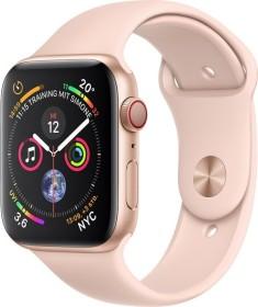 Apple Watch Series 4 (GPS + Cellular) Aluminium 44mm gold mit Sportarmband sandrosa (MTVW2FD/A)