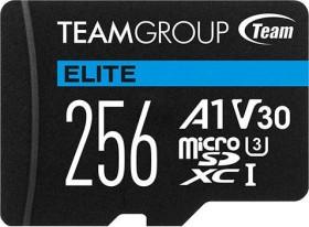 TeamGroup ELITE R90/W45 microSDXC 256GB Kit, UHS-I U3, A1, Class 10 (TEAUSDX256GIV30A103)
