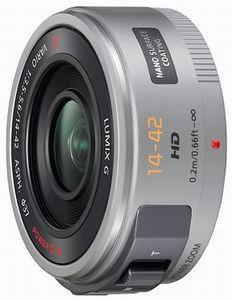 Panasonic Lumix Objektiv G X Vario PZ  14-42mm 3.5-5.6 ASPH OIS silber (H-PS14042E-S)