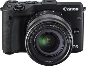 Canon EOS M3 schwarz mit Objektiv EF-M 18-55mm 3.5-5.6 IS STM mit EVF-DC1 (9694B077)
