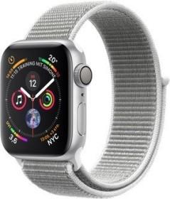 Apple Watch Series 4 (GPS) Aluminium 40mm silber mit Sport Loop muschelgrau (MU652FD/A)