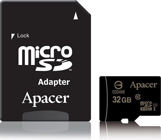 Apacer microSDHC 32GB Kit, UHS-I U1, Class 10 (AP32GMCSH10U1-R)