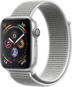 Apple Watch Series 4 (GPS) Aluminium 44mm silber mit Sport Loop muschelgrau (MU6C2FD/A)