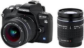 Olympus E-400 schwarz mit Objektiv 14-42mm 3.5-5.6 und ED 40-150mm 4.0-5.6 (N2524692)