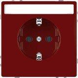 Merten System Design SCHUKO-Steckdose, rubinrot (MEG2302-6006)