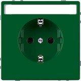 Merten System Design SCHUKO-Steckdose, grün (MEG2302-6004)