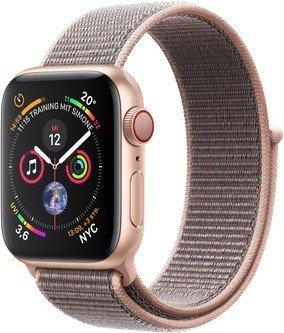 Apple Watch Series 4 (GPS + Cellular) Aluminium 40mm gold mit Sport Loop sandrosa (MTVH2FD/A)