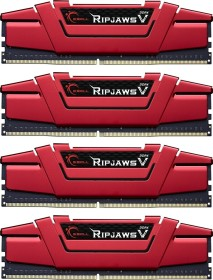 G.Skill RipJaws V rot DIMM Kit 64GB, DDR4-2800, CL15-15-15-35 (F4-2800C15Q-64GVR)