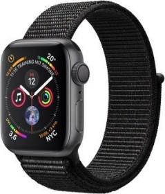 Apple Watch Series 4 (GPS) Aluminium 40mm grau mit Sport Loop schwarz (MU672FD/A)