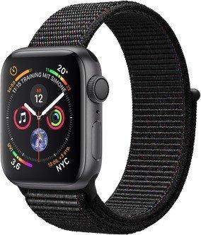 Apple Watch Series 4 (GPS) 40mm Space Grey Aluminium Case with Black Sport Loop (MU672FD/A)