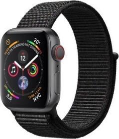 Apple Watch Series 4 (GPS + Cellular) Aluminium 40mm grau mit Sport Loop schwarz (MTVF2FD/A)