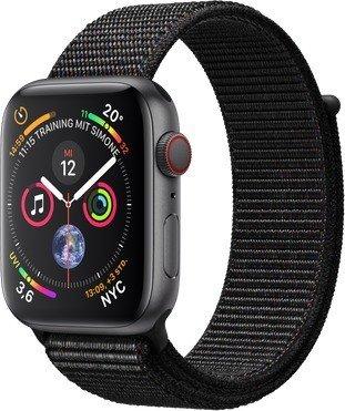 Apple Watch Series 4 (GPS + Cellular) 44mm Space Grey Aluminium Case with Black Sport Loop (MTVV2FD/A)