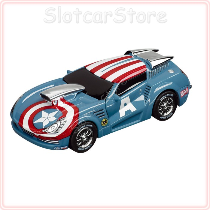 Carrera - GO!!! Auto - Marvel The Avengers Captain America Stormer (61255) -- via Amazon Partnerprogramm
