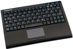 KeySonic ACK-340RF+ Super-Mini Keyboard, USB, DE
