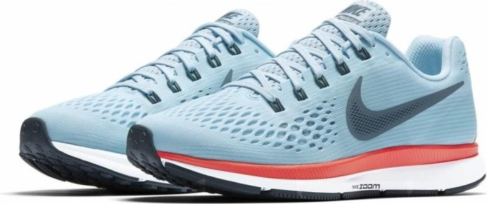 29e98fad6f9b1 Nike Air zoom Pegasus 34 ice blue bright crimson white blue fox (ladies)  (880560-404) starting from £ 89.89 (2019)