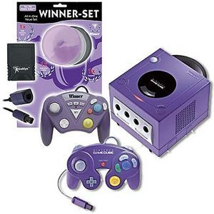 Nintendo GameCube purple + Winner set (GC)