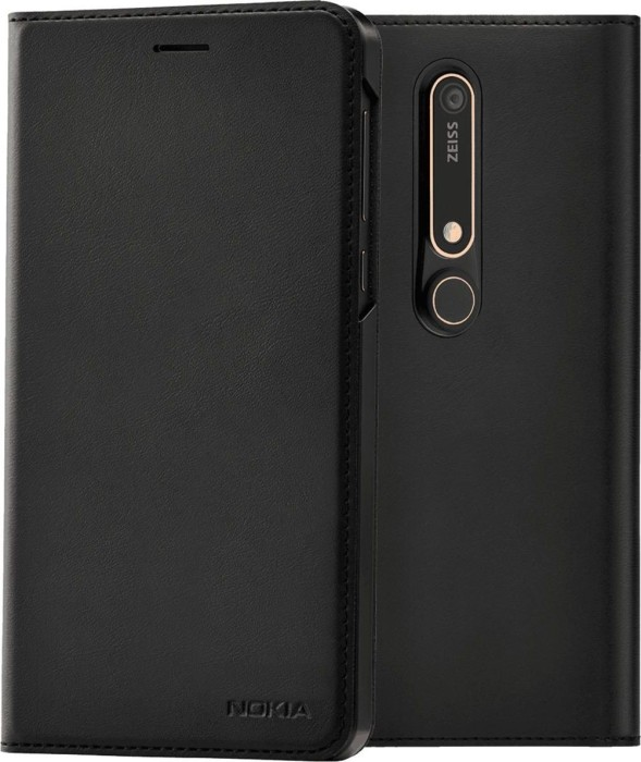 purchase cheap 5abfc 12205 Nokia CP-308 slim Flip case for Nokia 6.1 black (1A21RSF00VA)