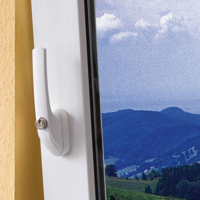wei/ß Abus FG300 W abschlie/ßbarer Fenstergriff im Set 2 St/ück alle gleichschlie/ßend AL0125 mit insgesamt 4 Schl/üssel