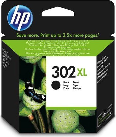 HP Druckkopf mit Tinte 302 XL schwarz (F6U68AE)