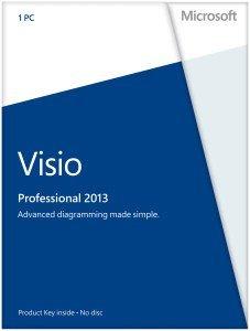 Microsoft Visio 2013 Pro, PKC (deutsch) (PC) (D87-05365)